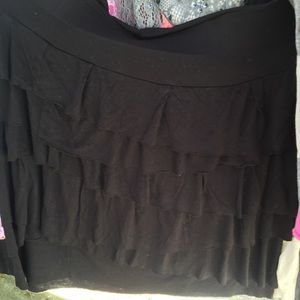 Ann Taylor LOFT Black Layered Skirt Size SP